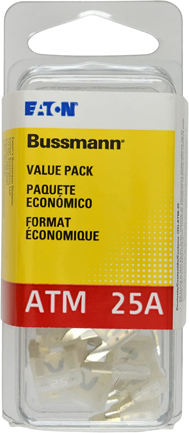 Bussmann VP ATM-25-RP Seasonal Wrap Introduction Yellow 25 Amp Mini Max 67% OFF Fast ATM Acting Fuse