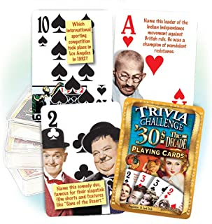 Flickback Media, Inc. 1930's Decade Trivia Playing Cards: 80th & 85th Birthday or Anniversary Gift