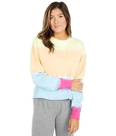 Spiritual Gangster Heart Sky Mazzy Pullover Sweatshirt (Sunrise Dip-Dye) Women
