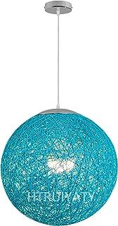 Nowoczesny klosz lampy rattan lampa wisząca kula okrągła linka papierowa pleciona wisząca lampa dekoracyjna do korytarzy r...