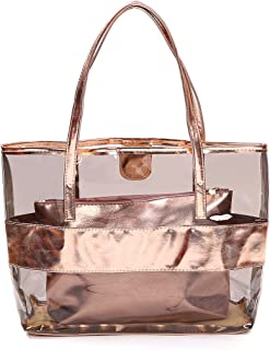 Barabum Classy Waterprof Clear Tote Beach Shoulder Crossbody Bag