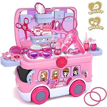 CORPER TOYS ドレッサーセット おもちゃ メイクセット 25点 女の子 お化粧おもちゃ お化粧おままごと かわいい おままごと ごっこ遊び クリスマス ピンク
