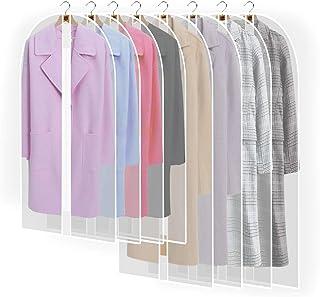 pwsap 8PCS Housses de Vêtements AVCE Zip, Anti Poussière Etanche Mite Humidité, Anti-Poussière Housses de Protection Trans...