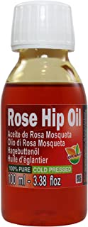 Aceite Rosa Mosqueta 100% Puro Total 100ml, Primera prensada en frío, Extra virgen -Color naranja brillante-. Primera calidad de Exportación. Envío súper rápido desde España