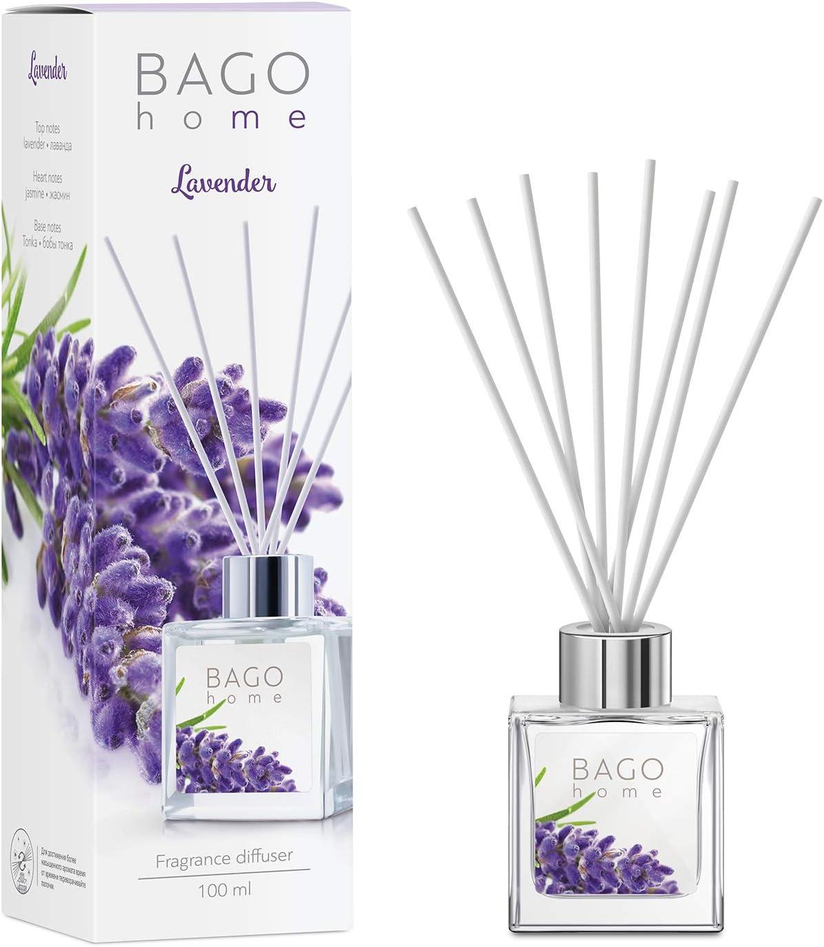 BAGO home Reed Virginia Beach Mall Diffuser Finally popular brand Set Ton - Lavender Jasmine
