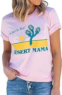 TENRUN Texas Cactus Shirts Women Short Sleeve Casual Tops Tee with Sayings