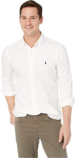 Long Sleeve Solid Garment Dyed Oxford Classic Fit Sport Shirt