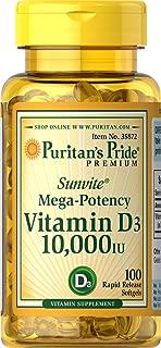 Puritans Pride Vitamin D3 10,000 IU, 100 Count