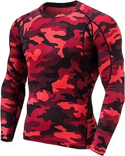 TESLA Men's Long Sleeve T-Shirt Baselayer Cool Dry Compression Top Round Neck MUD11 / Mock Neck MUT12 MUT72 MUT74