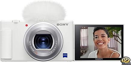 Cámara Sony ZV-1 para creadores de contenido, Vloggers, YouTube y transmisión en vivo con pantalla Flip y micrófono (blanco)