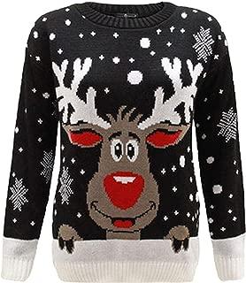 NAZ Fashion Ladies Long Sleeve Christmas Xmas Unisex Sweater Retro Novelty Vintage Jumpers Sweatshirts US 4-22
