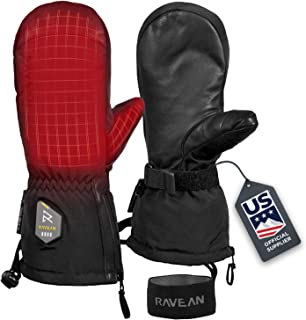 Ravean Heated Ski Gloves & Mittens – 7.4v Rechargeable Battery, 3M Thinsulate..