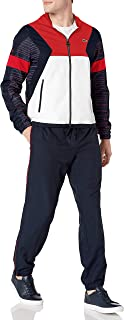 Mens Sport Taffeta Color Blocked And Printed Tracksuit Tracksuit