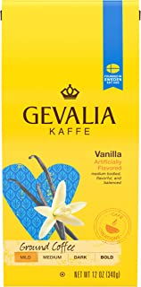 Gevalia Vanilla Medium Roast Ground Coffee (12 oz Bags, Pack of 6)