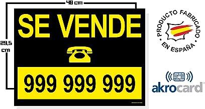 Cartel Resistente PVC - PERSONALIZABLE - Señaletica de informacion - ideal para inmobliarias (SE VENDE)