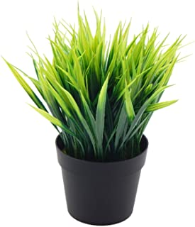 OFFIDIX Artificial Plants Faux Plastic Wheat Grass With vase Fake Greenery Shrubs for Indoor and Outdoors Home Office Gard...