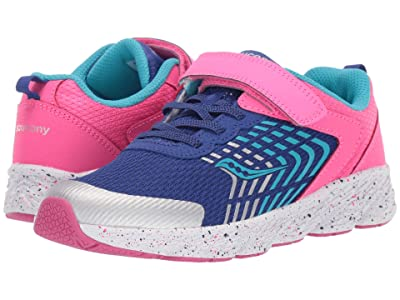 Saucony Kids S-Wind A/C (Little Kid/Big Kid) (Pink/Blue) Girls Shoes