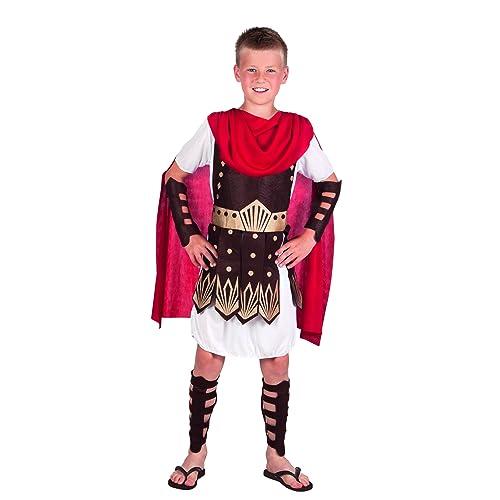 Roman Gladiator Boys Fancy Dress Grecian Warrior Soldier Kids Childrens  Costume (7 9 Years