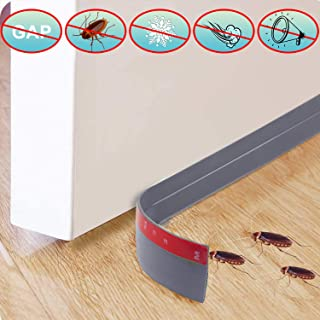 "[New Upgrade: with Extra Spare Double-Sided ] Door Draft Stopper, Self Adhesive Superglue Door Sweep Weather Stripping for Exterior/Interior Doors Soundproof Windproof and Dust-Proof(2""W x 39""L Gray)"