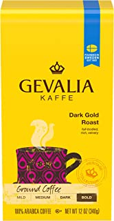 Gevalia Dark Gold Roast Ground Coffee (12 oz Bag)