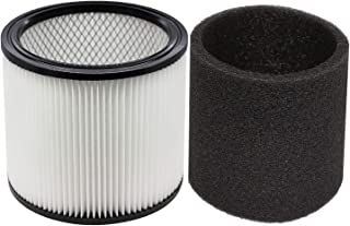 YUEFENGFoam Sleeve Filter for Shop-Vac 90350 90304 90333 Replacement fits Most Wet/Dry Vacuum Cleaners 5 Gallon and Above, Compare to Part # 90304, 90585 (1+1)
