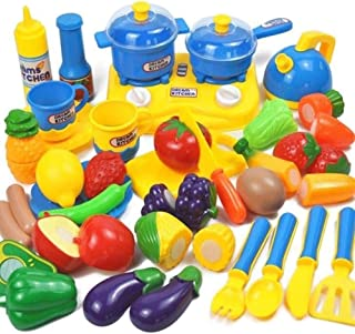 Play Food, Plastic, Cooking, Kids Play Food, Colorful Fruits And Vegetables Pretend Play Food for Pretend Role Playing Chr...