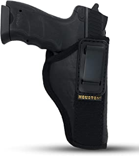 IWB Tuckable Gun Holster by Houston - ECO Leather Concealed Carry Soft Material   FITS Glock 17/21, H &K,Beretta 92 FS,XDM...