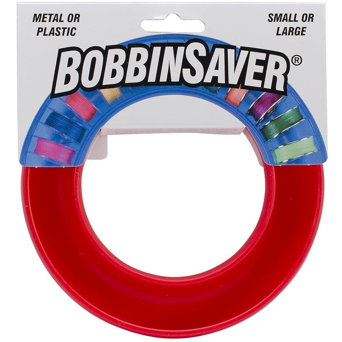 BobbinSaver Sewing Machine Bobbin Organizer - Holds 20+ Bobbins - Red