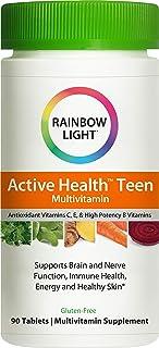 رينبو لايت، فيتامينات متعددة غذائية لصحة المراهقين النشطة بمركب ديرما، 90 قرصًا