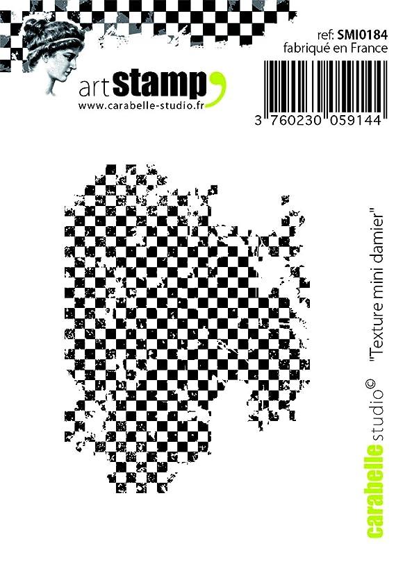 Carabelle Studio SMI0184 Pre-Cut Rubber Stamp - Texture Mini Checkerboard