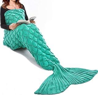 Mermaid Tail Blanket for Kids, Hand Crochet Snuggle Mermaid,All Seasons Seatail Sleeping..