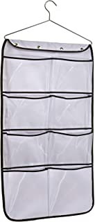 MISSLO Durable Hanging Closet Double Sided Bra Stocking Clothes Socks Organizer with Large Mesh Pockets (15 Large Pockets,...