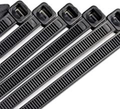 Flurhrt F-01 Nylon Zip Ties, Cable Ties 10 Inch, Black, Pack of 100