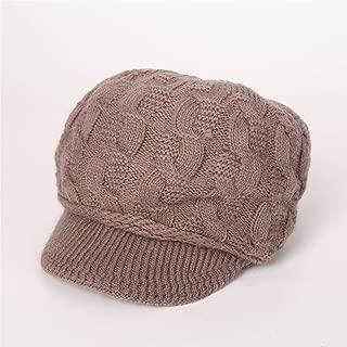 Peaccch Women´s Winter Warm Beret Braided Beanie Hat Cute Snow Fleece Lined Newsboy Caps with Visor