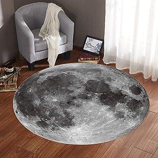 Mxtech Alfombrilla Suave, alfombras Lavables, baño para Cocina(80cm in Diameter)