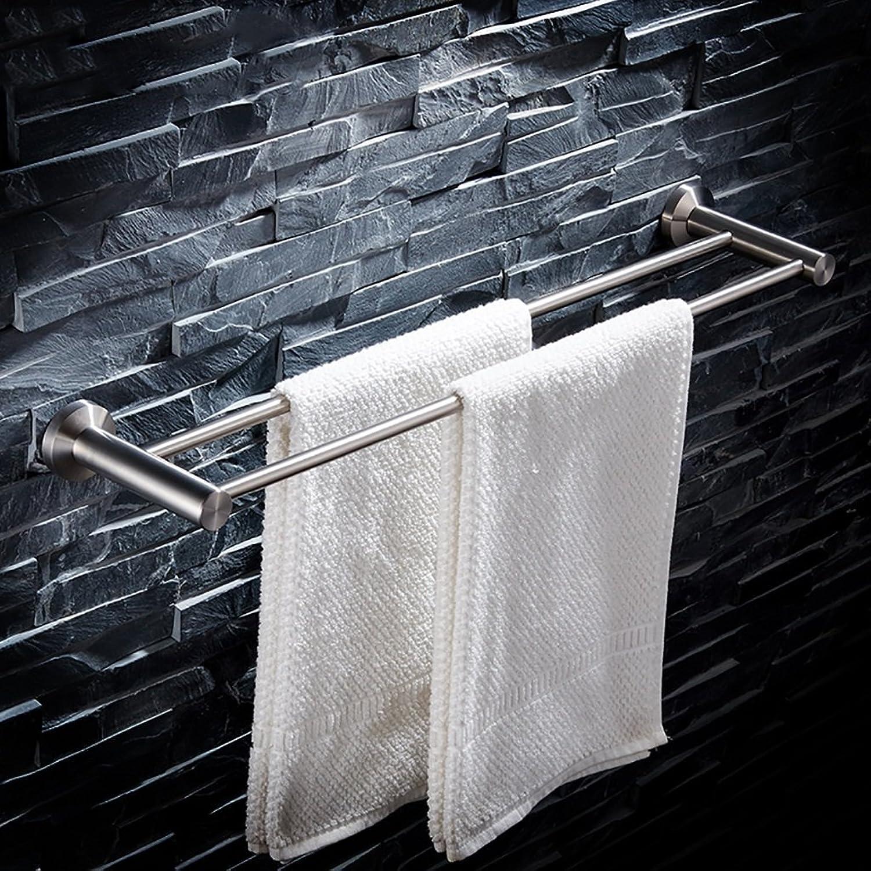 FKTowel rack Handtuchhalter Badezimmer Handtuchstange 304 Edelstahl gebürstet Doppel Handtuchhalter Wandhalterung Handtuchhalter (größe   100cm) B07F9PK4W9