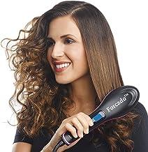 Forcado Professional Ceramic Straightening Hair Straightener Brush with Temperature Control for Women, hair straightener for women, hair straighteners, hair straightener electric brush (Black)