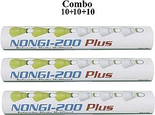 NONGI Plus Plastic Badminton Shuttlecock Pack of 30