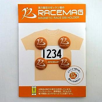 RACE MAG マグネット式ゼッケン留め オレンジ