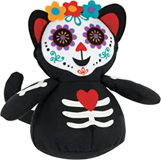 Amscan Roly Poly Day Of The Dead Cat Fabric, Multicolour
