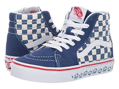 Vans Kids SK8-Hi (Little Kid/Big Kid) ((Vans BMX) True Navy/White) Boys Shoes