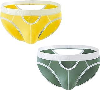 ZONBAILON Mens Sexy Briefs Bamboo Fiber Low Rise Briefs for Men Pack Underwear Pouch S M L XL 2XL