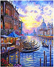 Diy Digital Oil Painting by Numbers Paint Drawing Coloring Canvas Hand Painted Modular Picture Wall Decor Venice 40x50cm