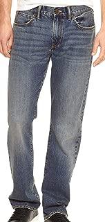 GAP Denim Mens Straight Fit Dark Indigo Blue Jeans (32x32)