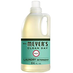 Mrs. Meyers Laundry Detergent, Basil, 64 fl oz