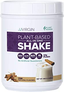 Reignite Wellness by JJ Virgin Plant-Based All-in-One Shake - Protein Powder with Pea, Chia & Chlorella Protein - Nutritio...
