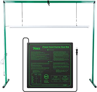 iPower GLSTNDLED4FHTMTM 36W 4 Feet LED Grow Light Stand Rack and 20