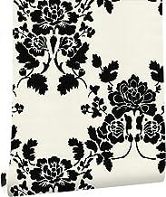 HAOKHOME Asian Oriental Art Painting Flower Wallpaper Rolls White Black Living room 630562