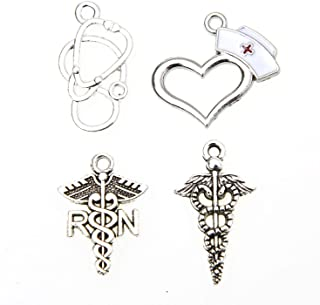 Monrocco 24 pcs Alloy Medical Charms for Jewelry Making