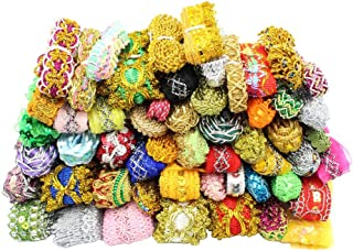 Approx 3/8''-1-1/4'' Wide (10-35mm) x 12yards Random Lace Ribbon Various Embellishment Lace Trim Sewing Decoration Accessories (Mixed Colors 1)